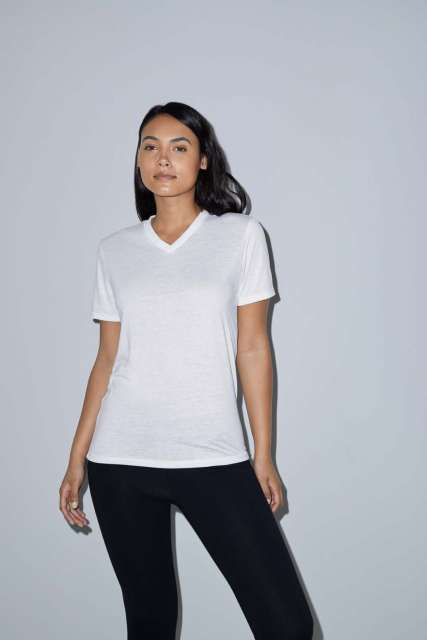 WOMEN'S SUBLIMATION CLASSIC SHORT SLEEVE V-NECK T-SHIRT