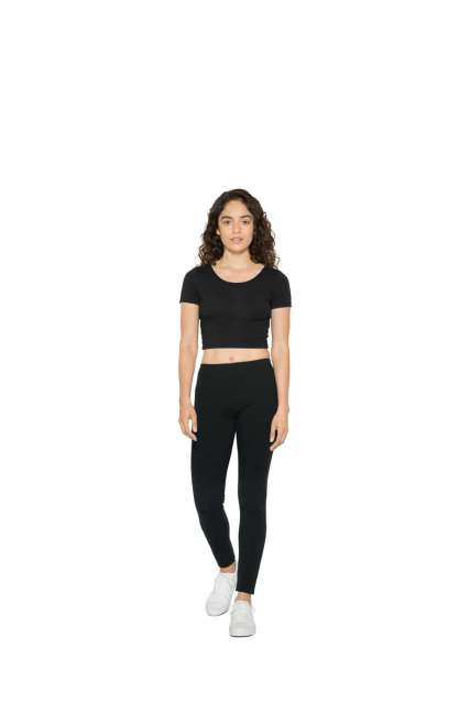 WOMEN'S COTTON SPANDEX SHORT SLEEVE CROP TOP