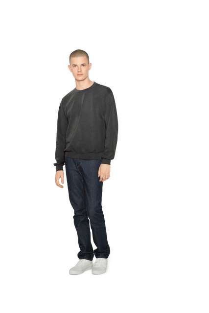 UNISEX FRENCH TERRY GARMENT DYED CREW