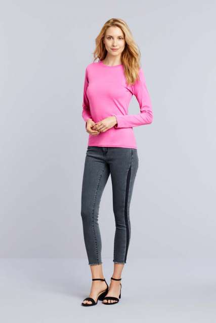 SOFTSTYLE<SUP>®</SUP> LADIES' LONG SLEEVE T-SHIRT