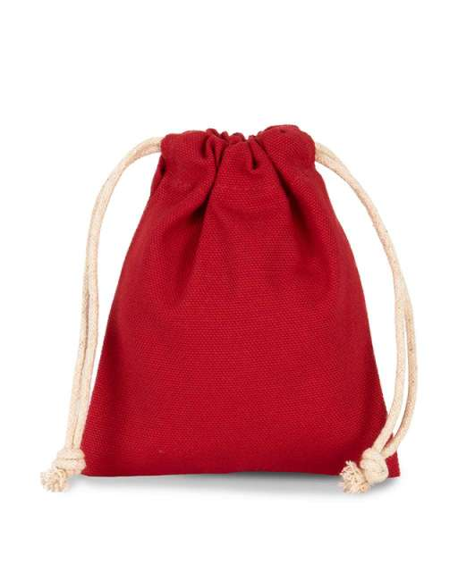 COTTON BAG WITH DRAWCORD CLOSURE - SMALL SIZE