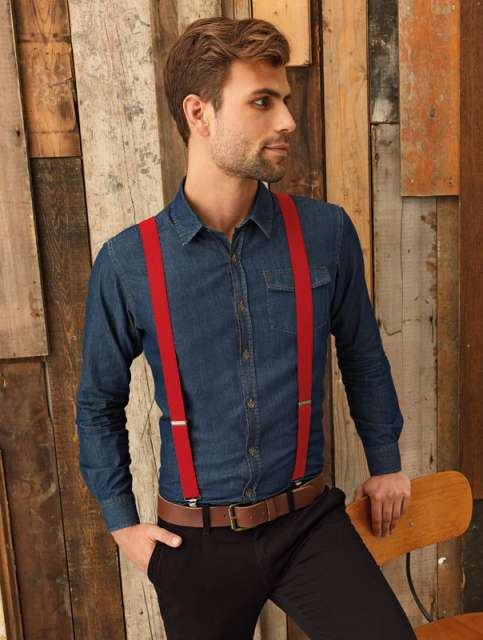 CLIP-ON TROUSER BRACES/SUSPENDERS